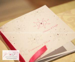 Libretto cerimonia matrimonio in coordinato artigianale