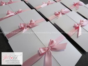 partecipazioni matrimonio nastro rosa battesimo eleganti