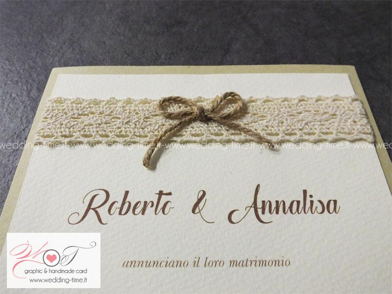 Super Partecipazione Matrimonio Collezione Shabby Chic 001  TM89
