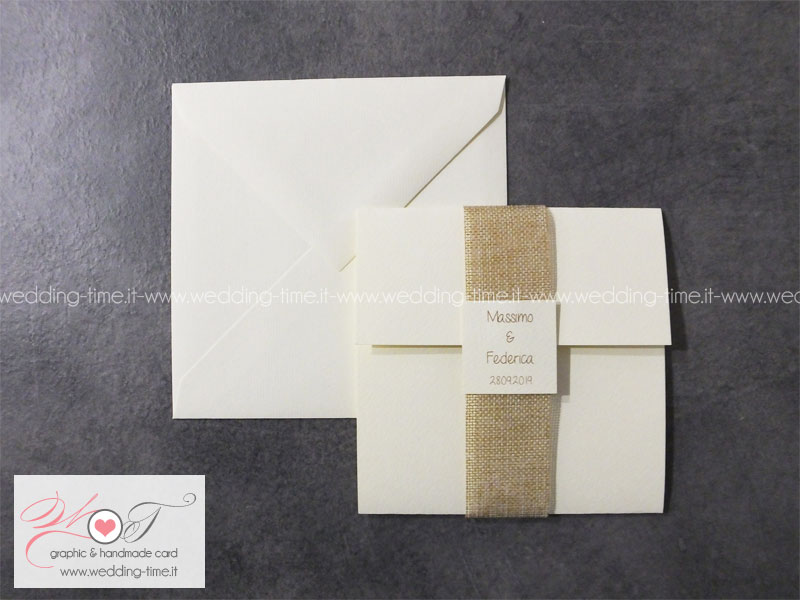 Inviti Matrimonio Country Chic : Partecipazione matrimonio collezione shabby chic 006