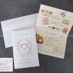partecipazione matrimonio grafica passaporto dell'amore