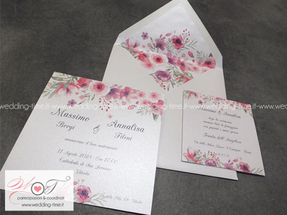 Partecipazione Matrimonio Collezione Grafica 023